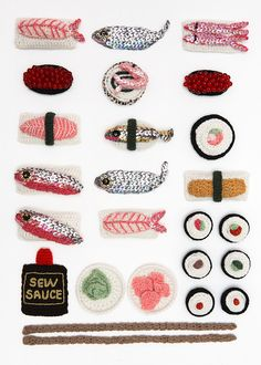 These #crocheted pieces of #sushi are so fun!