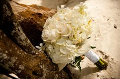 Couples Resorts White Rose Wedding Bouquet www.vowtotravel.com Book your tropical getaway today!