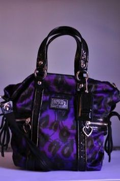 purple blue leopard coach bag Fashion Handbags 276576ee7c435