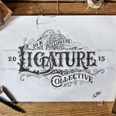 Hand-drawn Type Artworks 2015 on Behance
