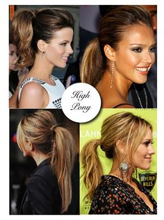 3 minute high ponytail.