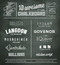 10 FREE Chalkboard Fonts - Key Lime - Modern & Professional Blog Design