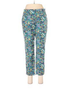 Ann Taylor LOFT Dress Pants: Size 4.00 Teal Women's Bottoms - $15.99