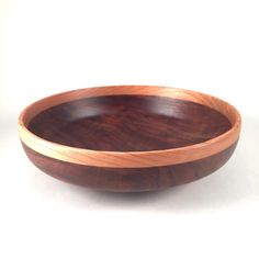 "Two different walnut bowls with cherry rims. I'm pretty pleased with that combo. Both about 7"" diameter"