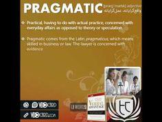 ویدیوکارد کلمه pragmatic از کتاب Verbal Advantage – سطح ۱