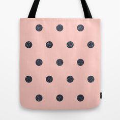 Black Polka Dots on Pink by Cafelab