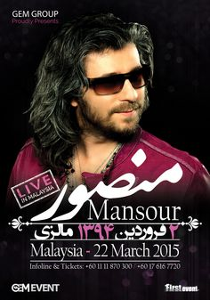 MANSOUR Live in Concert Kuala Lumpur, Malaysia March 22, 2015 +60.11.11.870.300 +60.17.616.7720