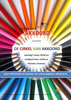 Poster voor 'De cirkel van Akkoord', 7 en 8 maart 2015, Het Musiater, Zevenaar.