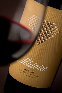 "The Solitaire wine label redesign - The Solitaire wine label redesign on Behance ""The Solitaire wine label redesign on Behance You ar -"