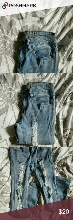 Distressed Jeans Paid via P ay Pal  $20 shipped  Not from Fashion nova, used for reference.  Brand is VIP-I removed the tag and washed them but never wore them. Cute distressed jeans, perfect for everyday Fashion Nova Jeans Skinny
