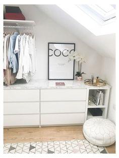 Walk In Closet Ikea, Ikea Closet Hack, Closet Hacks, Closet Bedroom, Bedroom Decor, Closet Ideas, Attic Closet, Bathroom Closet, Bedroom Ideas