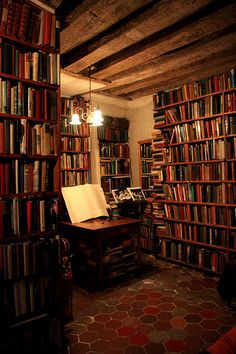 knowledge is wealth Home Library Rooms, Home Libraries, Beautiful Library, Dream Library, Under Stairs Cupboard, Library Inspiration, Interior And Exterior, Interior Design, Book Nooks
