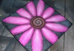 #4 hand painted stepping stone