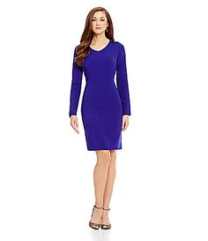 Antonio Melani Dorothy VNeck Stretch Crepe Sheath Dress #Dillards