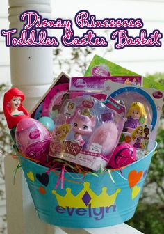 Non candy easter basket ideas for toddlers easter baskets easter disney princess easter basket negle Images