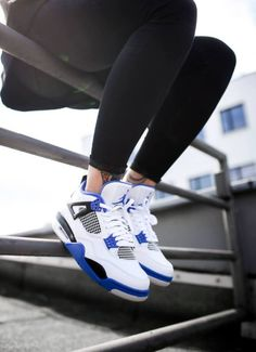 Nike Air Jordan 4 Retro Motorsports Source by Shoes jordans Cute Sneakers, Sneakers Mode, Sneakers Fashion, Shoes Sneakers, Kd Shoes, Asos Shoes, Retro Sneakers, Retro Shoes, Yeezy Shoes