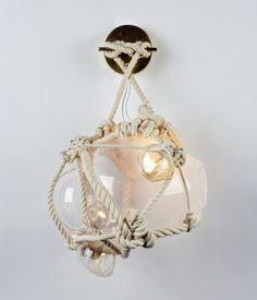 Knotty Bubbles Sconce from Roll & Hill