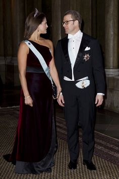 Princess Madeleine of Sweden with her brother in law Prince Daniel of Sweden.