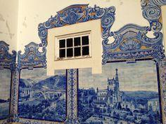 Aveiro. At the historic train station. Detail