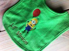 Lil Minion Despicable Me 2 Green Bib Soft by DownInTheBoondocks, $5.50