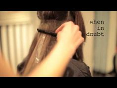 How to dip dye your hair...never saw back combing used in dying hair, but i love it! @dee