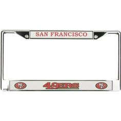 NFL San Francisco 49ers Chrome Licensed Plate Frame >>> To view further for this item, visit the image link.