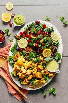 Grape, Lentil, & Curried Cauliflower Salad | Minimalist Baker Recipes