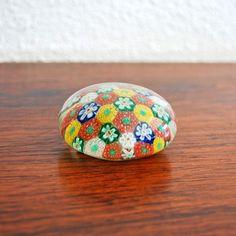 Glass Flower Paperweight
