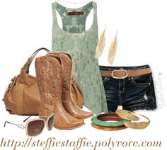 """""""Crochet, Feathers & Cowboy Boots"""" by steffiestaffie on Polyvore"""