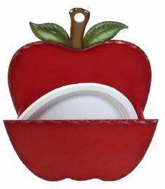 Plates Holder with Apple Orchard Design- Item #71-081 by GinsonWare. $13.99  sc 1 st  Pinterest & Apple-Themed Paper Plate Dispenser \u2014 Beyond The Kitchen Sink | Apple ...