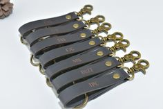 Keychains for women or men, also we provide free custom engraving (Any content). Six colors available.   ★Wholesale available. Please drop us a message for a discount if you need to buy in bulk.★  ★NO NEED to click on custom my order button, please just leave your custom details in the note to seller box while checking out.★  ★Generally, it will only need approx. 6 days to be delivered in US, CA, AU, UK, FR, Germany, Spain, New Zealand, Singapore, Sweden, Switerland, Belgium, Italy, Norway…