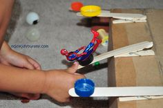 Homemade Catapult, a very cool boy toy. Girls, too! Craft it, play it = time well spent! :)