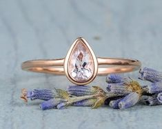 HANDMADE RINGS & BRIDAL SETS by MoissaniteRings on Etsy Morganite Engagement, Engagement Rings, Bridal Ring Sets, Handmade Rings, Gold Rings, Rose Gold, Floral, Etsy, Jewelry