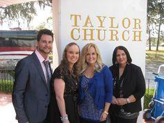 Jennifer's Blog: Bridge Out! Photo of Jennifer Campbell with friends Karen Peck & New River at Taylor Church in Sanderson, Florida.