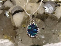 Mosaic Opal Pendant 930 Solid Sterling Silver by jpatterson312