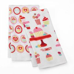 Valentine's Day Sweets 2-pk. Kitchen Towels