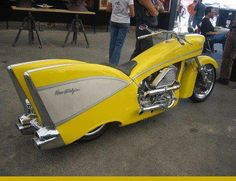 50's car motorcycle
