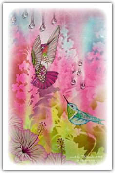 'Mir'acle Art Inspirations: Beautiful Hummingbirds from Designs by Ryn