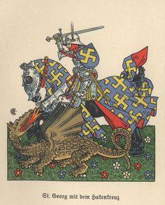 A Nazi St George killing the dragon