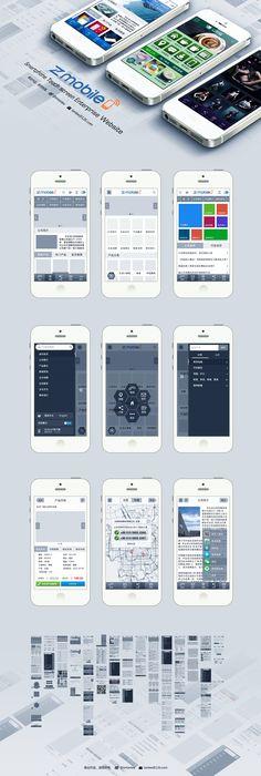 Wireframe prototype Of Mobile Website by imtanlee.deviantart.com on @deviantART