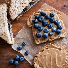 Almond Butter and Fresh Blueberry Sandwich | Food & Wine