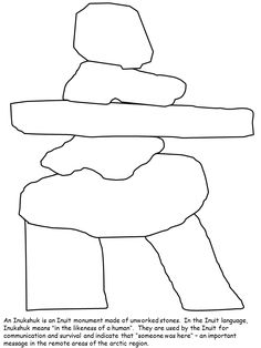 Inukshuk colouring page