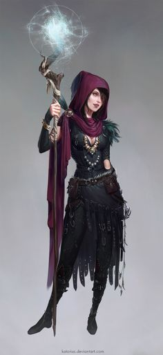 Witch of the Wilds (Morrigan from Dragon Age) by katorius.deviantart.com on…
