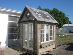 If You Are Good With Your Hands. Repurposing old windows and lumber for a green house.