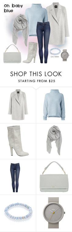 """""""Oh Baby Blue"""" by debbie-michailides ❤ liked on Polyvore featuring Theory, Le Kasha, Alexander Wang, BP., DKNY, Sydney Evan and Braun"""