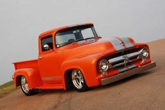 """56 Ford f100""  NICE!!!!!!!!!!!!!!!!!!!!!!!!!!!!!!!!!!!!!!!!!!!!!!!!!!!!!!!!  LOVIN THEM STRIPES."