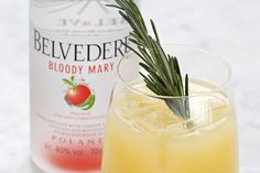 Canary Mary [Fresh and earthy]: 50 ml Belvedere Bloody Mary, 90 ml Yellow Tomato Juice, Dash of fresh Lemon juice, Dash green Tobasco, Small stemless wine glass or rocks glass. | Roll over ice and pour. Garnish with a rosemary sprig. *Paired with: Soft egg scotch style with anchovy mayonnaise & truffle