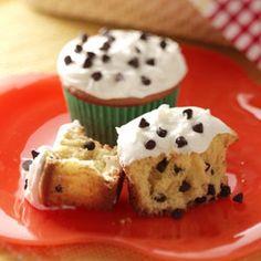 Chocolate Chip Cupcakes Recipe from Taste of Home -- shared by Paula Zsiray of Logan, Utah