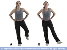 Balance exercises: A few simple exercises to help with balance.