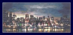 City Lights Counted Cross Stitch Pattern by ACrossStitchFantasy on Etsy
